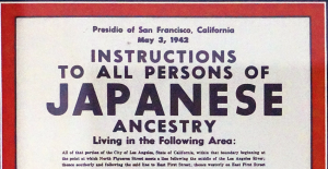 Japanese Internment Camp Poster and Swimming Pool Sign