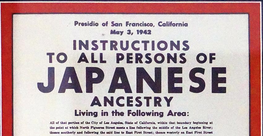 Japanese Internment Camp Poster